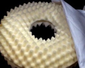 Convoluted Foam Pressure Ring Cushion