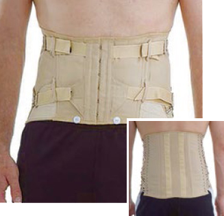 Lumbar Sacral Side-Lacing Corset - Short - Male
