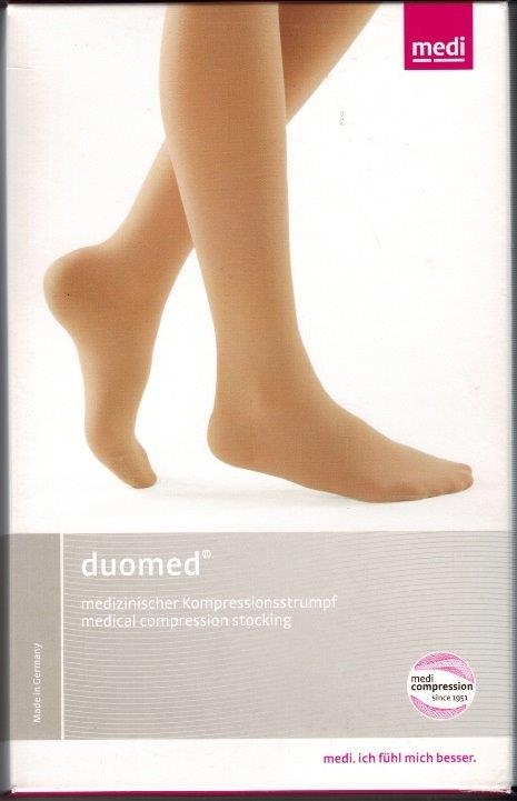 Duomed AG  Thigh Length(to be used with suspender belt) Medical Compression stockings 30-40 mmHg Open  Toe COLOUR BEIGE  ON SALE WHILE STOCK LASTS