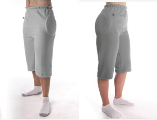 Hipsaver Hip Protectors - Interim 3/4 Length Overpants with Tailbone Protection (with sewn-in Pads)