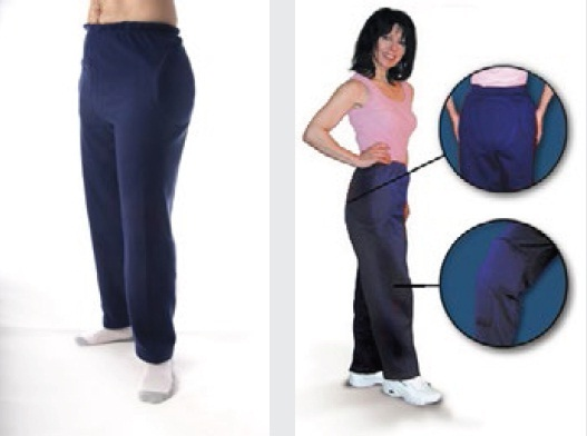 Hipsaver Hip Protecting Track Pants with Tailbone & Knee Protection (with sewn-in Pads)