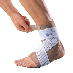 Oppo 1003 slip-on thermal ankle support w/strap