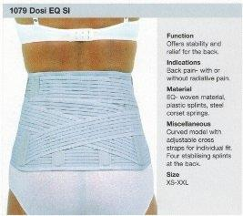 Rehband 1079  Dosi EQ Lumbar support COLOUR  WHITE  ON SALE WHILE STOCK LASTS
