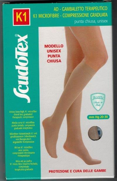 Scudotex 443 Below Knee  Medical Compression stockings 20-30 mmHg Closed Toe COLOUR BEIGE   ON SALE WHILE STOCK LASTS