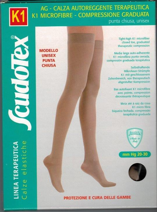 Scudotex 444 Thigh High Grip Top  Medical Compression stockings 20-30 mmHg Closed Toe COLOUR BEIGE   ON SALE WHILE STOCK LASTS