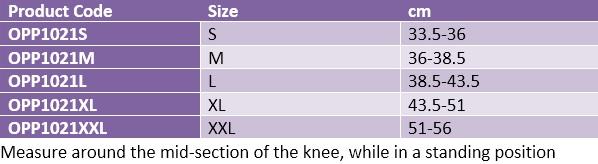 Oppo 1021 knee support open patella
