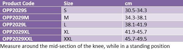Oppo 2029 open knee brace