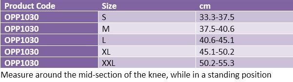 Oppo 1030 knee stabilizer