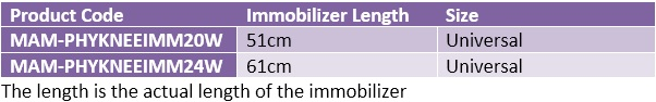Tri-Panel Knee Immobiliser