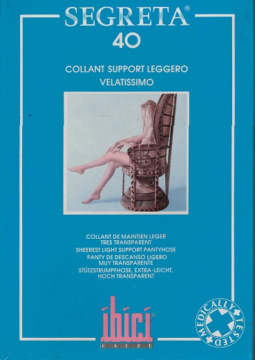 SALE - Ibici 40D Pantyhose  Medical Compression stockings 8-11 mmHg Closed Toe COLOUR  BLU NERO  ON SALE WHILE STOCK LASTS