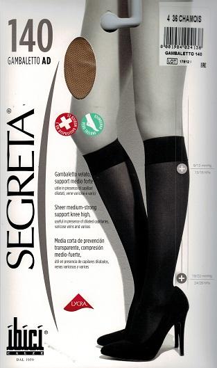 Ibici Segreta 140 Below knee Medical Compression Stockings 18-22 mmHg Closed Toe