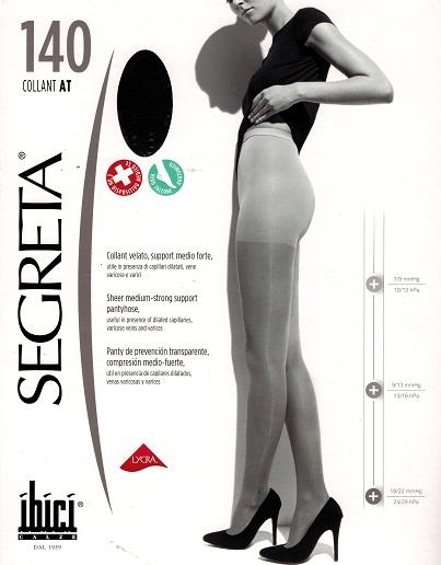 prezzi al dettaglio l'atteggiamento migliore rapporto qualità-prezzo Ibici Segreta 140 Waist High Medical Compresion Pantyhose 18 ...