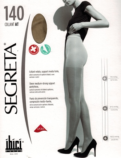 Ibici Segreta Super Calibrato (For those with a shorter fuller figure) Waist High Medical Compression Stockings 18-22 mmHg Closed Toe