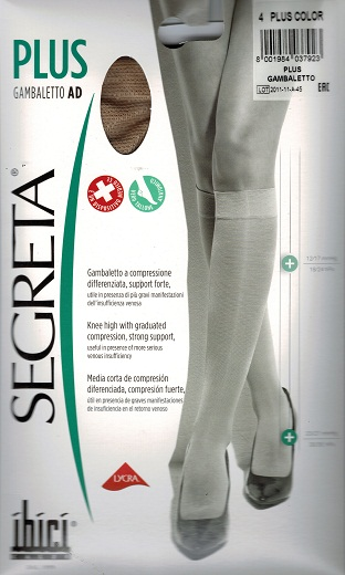 Ibici Segreta PLUS Below knee Medical Compression Stockings 23-27 mmHg Closed Toe