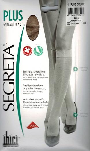Ibici Segreta PLUS Below knee Medical Compression Stockings 23-27 mmHg Closed Toe