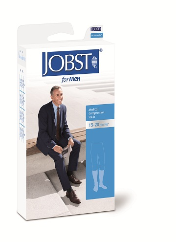 Jobst For Men Below knee Medical Compression Stockings 15-20 mmHg Closed Toe