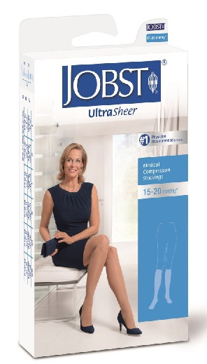 Jobst Ultrasheer for Women Below knee Medical Compression Stockings 15-20 mmHg Closed Toe