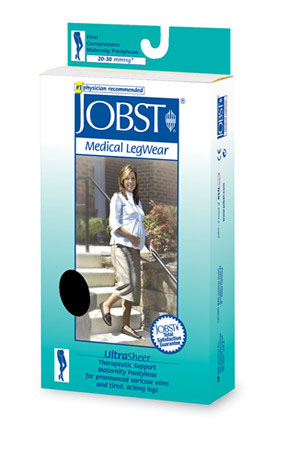Jobst Ultrasheer for Women Maternity Waist High (Pantyhose) Medical Compression Stockings 20-30 mmHg Closed Toe