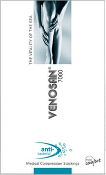 Venosan 7002 Below knee Plain Grip Top Medical Compression Stockings 23-32 mmHg Open Toe