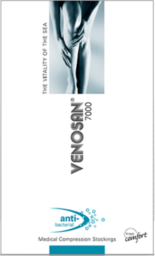 Venosan 7002 Thigh High PLAIN (Grip Top) Medical Compression Stockings 23-32 mmHg Closed Toe