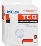 TED Thigh High Pair (With Sewn on waist attachment) Medical Anti-embolism Stockings Closed Toe with Inspection Opening