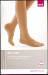Duomed Thigh High Plain Top (Use with Suspendor Belt) Medical Compression Stockings 23-32 mmHg Open Toe